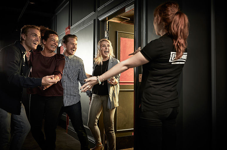 Celebrate when you escape the room